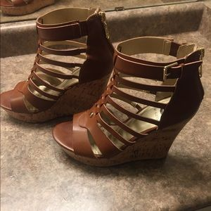 Guess Gladiator Wedge Sandals